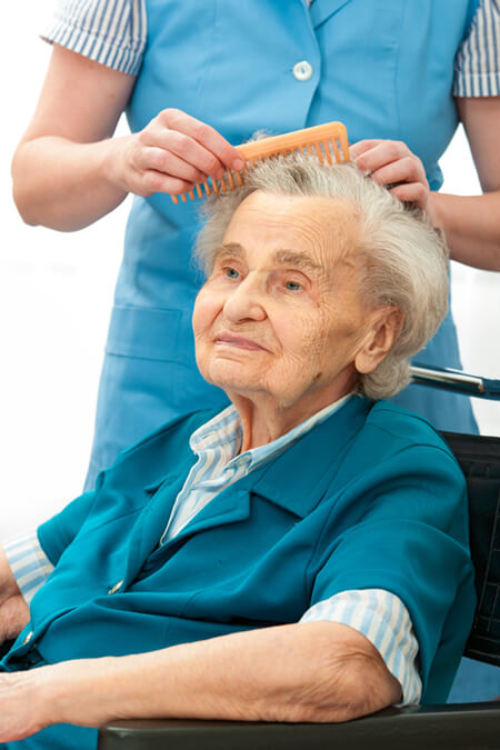Care assistant with resident